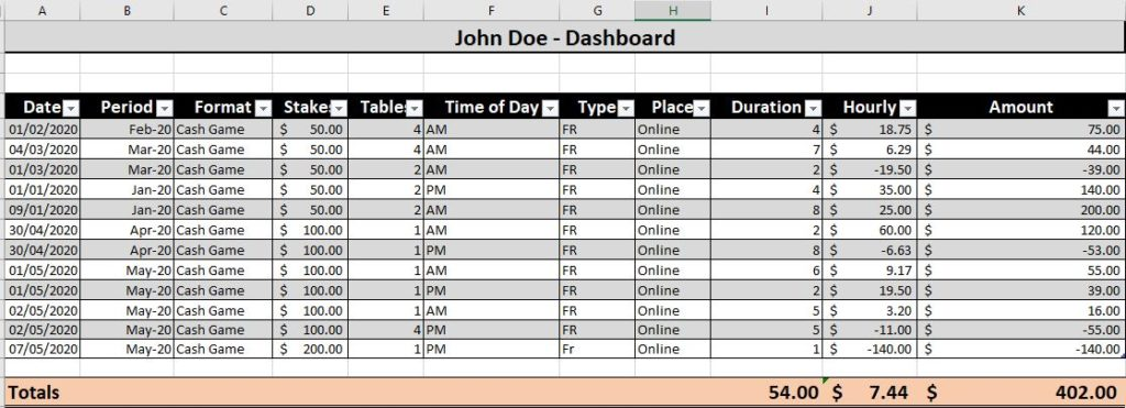 Poker Excel