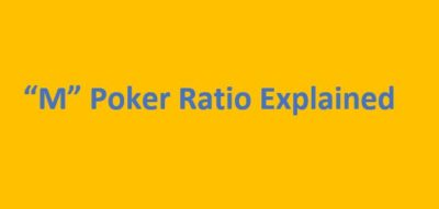 """M"" Poker Ratio for Tournaments"