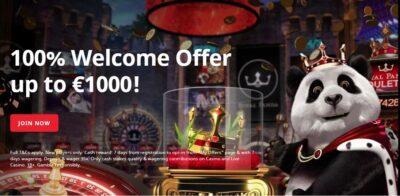 Royal Panda Casino overview by CasinoBonusTips.com